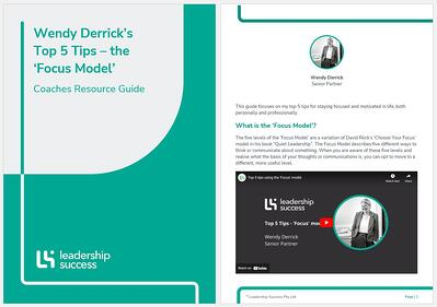 Wendy Derrick top 5 tips focus model download page image